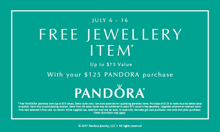 Pandora Summer Event July 6 - 16