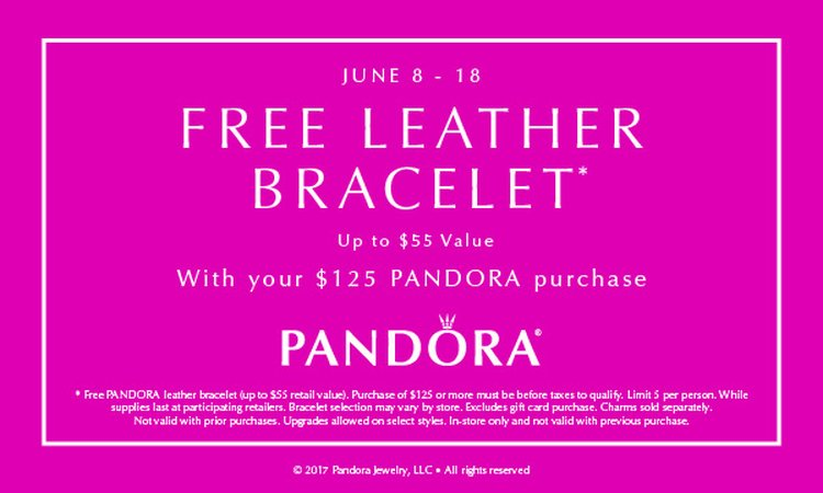 Pandora Leather Bracelet Event June 8 -18th
